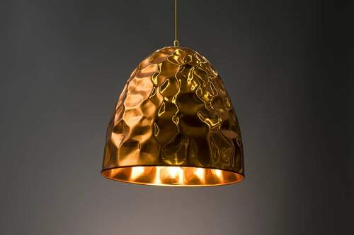 Lampshade with liquid metal coating